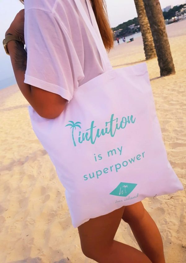 "Torba Her Island ""Intuition is my superpower"" – biała"
