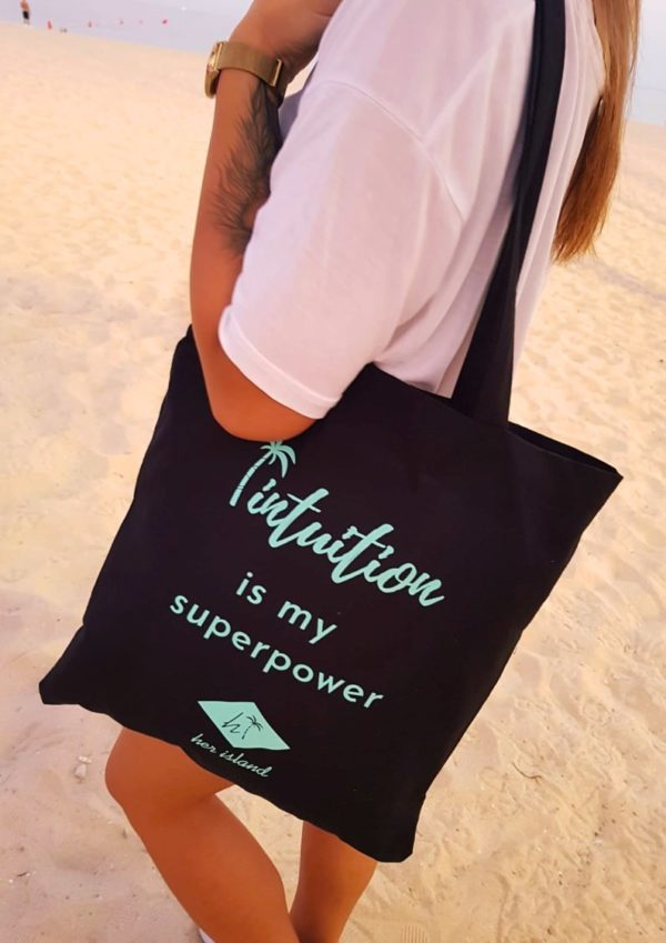 "Torba Her Island ""Intuition is my superpower"" – czarna"
